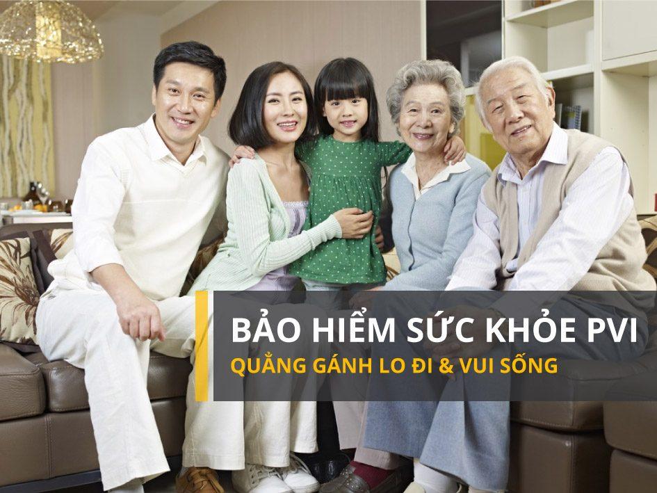 Bảo hiểm sức khỏe cho người trên 60 tuổi: Bảo hiểm sức khỏe PVI